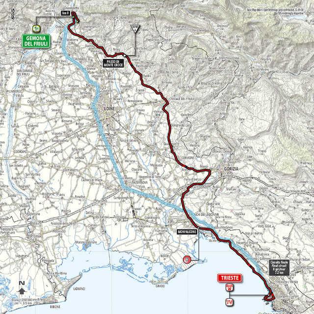 mapa como es la etapa 21 del Giro de Italia 2014