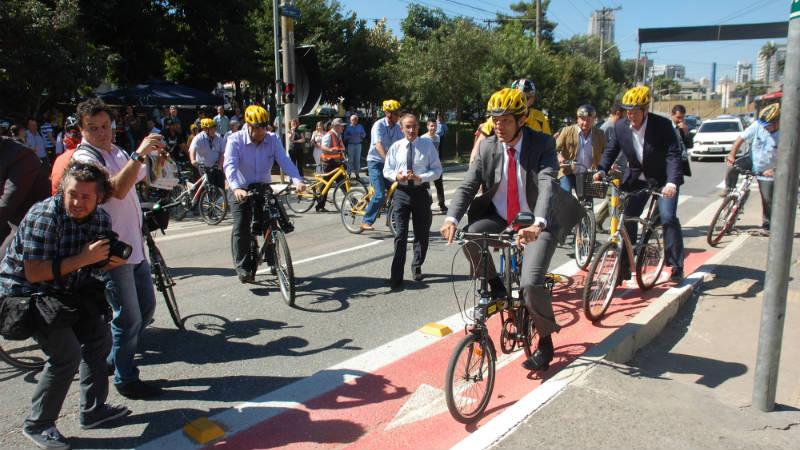 Haddad promete cada semana inaugurar 10 km de ciclovias en San Pablo Brasil