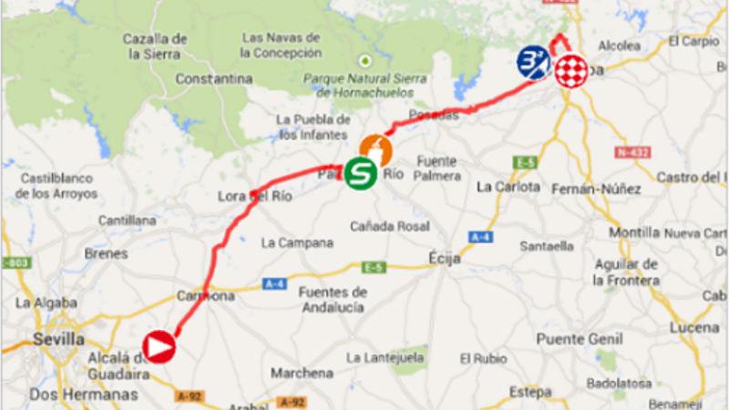 Mapa Como es la etapa 4 de la vuelta a espana 2014