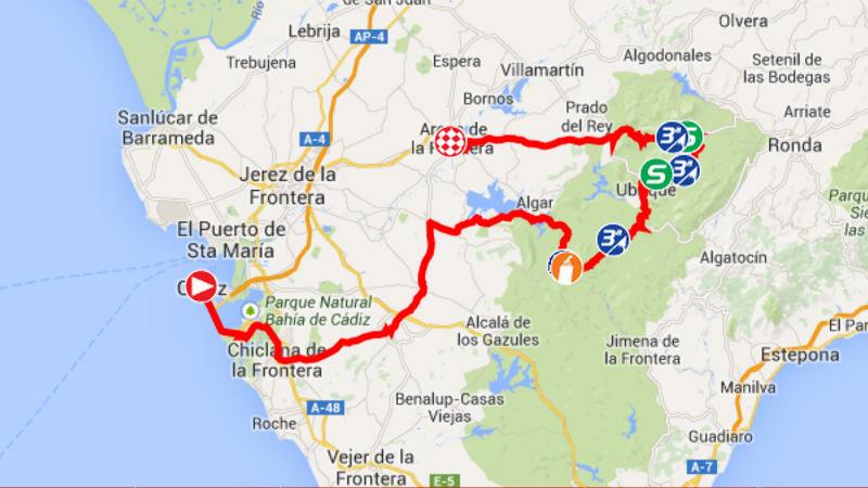 Mapa como es la etapa 3 de la vuelta a espana 2014