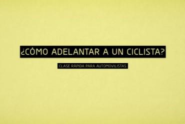 Conductores sepan como adelantar a un ciclista