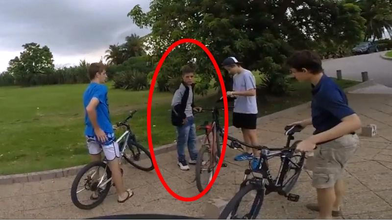 Robo de bicicletas en la rambla de Montevideo Uruguay