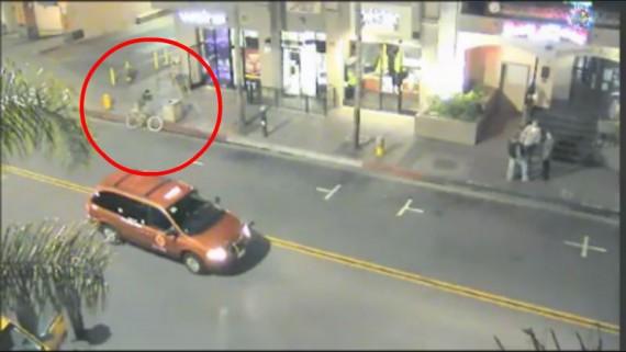 Ladron de bicicletas borracho intenta un robo sin exito