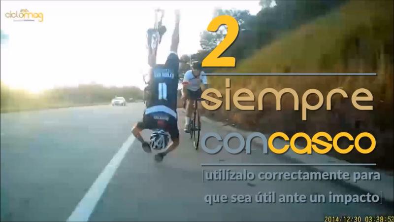 siempre con casco accidente de bicicletas