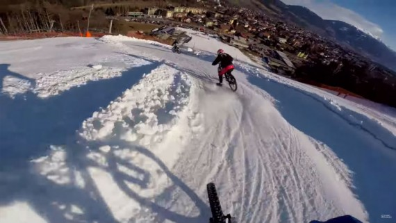 Excelente video de Downhill MTB en la nieve
