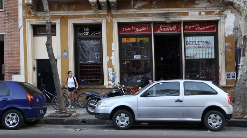 Ezequiel un bicicletero en Buenos Aires Argentina Santilli Bicicleta