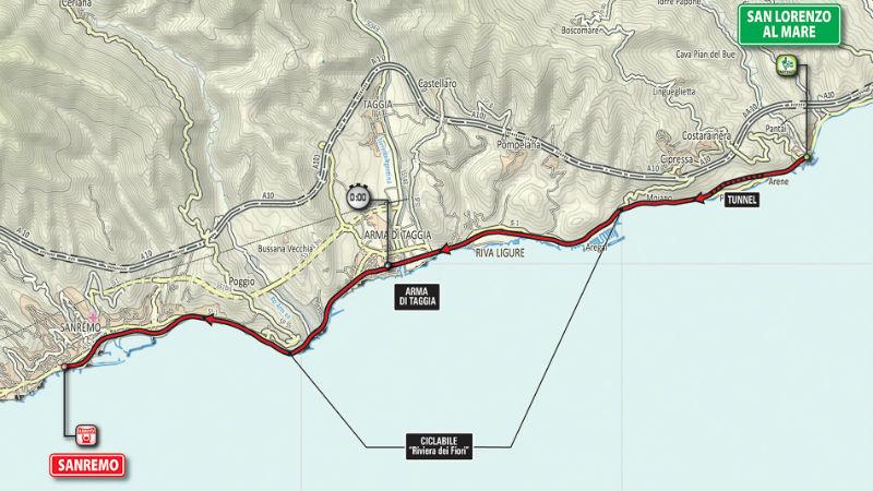 Mapa para saber como es la etapa 1 del Giro de Italia 2015